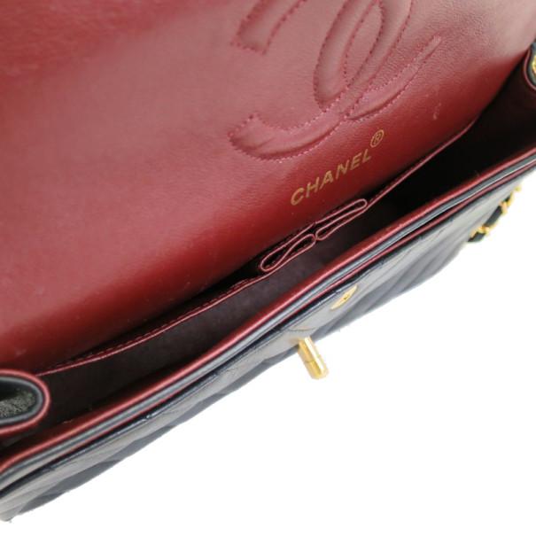 Chanel Black Chevron Lambskin Flap Shoulder Bag