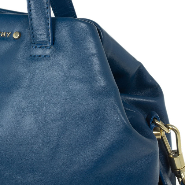 Givenchy Blue Leather Medium Bugatti Bag