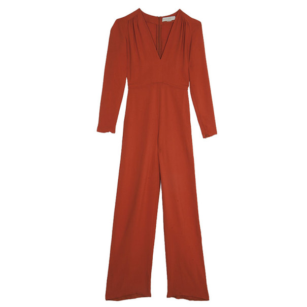 Stella McCartney Orange V-neck Jumpsuit S