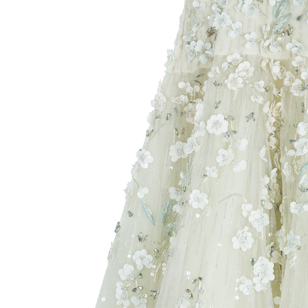 Zuhair Murad Tiana Strapless Floral Embellished Wedding Dress M
