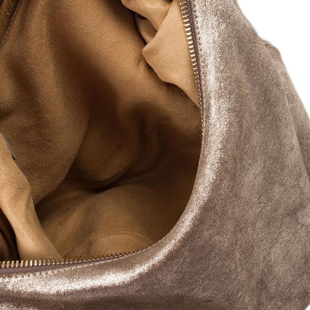 Jimmy Choo Bronze Leather Solar Hobo