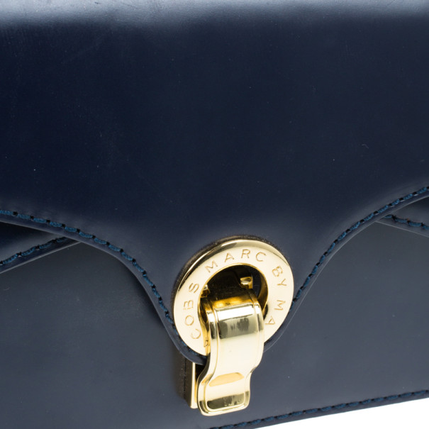 Marc by Marc Jacobs Navy Blue Leather Small Shoulder Bag
