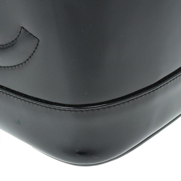Chanel Black Patent Leather Vanity Bag