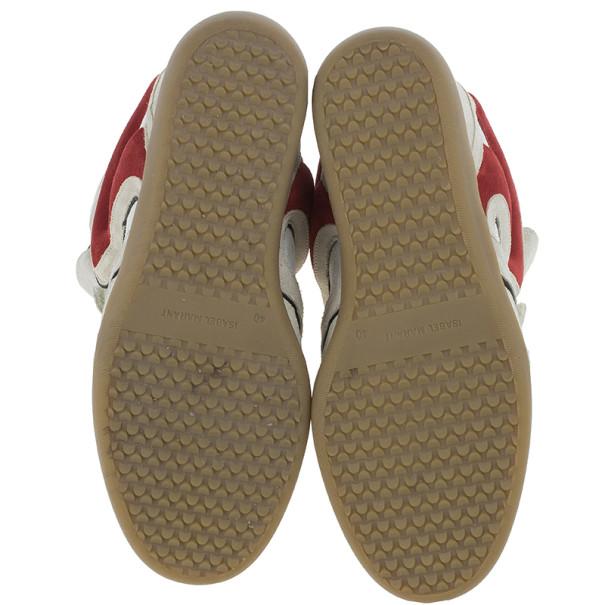 Isabel Marant Grey Bekett Wedge Sneakers Size 40