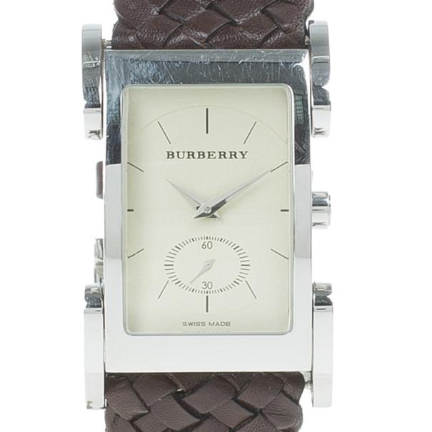 Burberry Cream Stainless Steel BU1105 Unisex Wristwatch 26MM