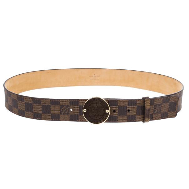 Louis Vuitton Damier Ebene Trunks & Bags Belt 90CM