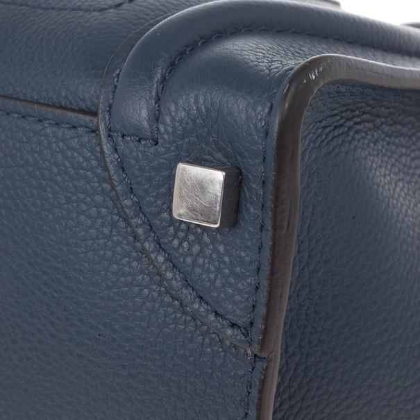 Celine Blue Micro Luggage Tote