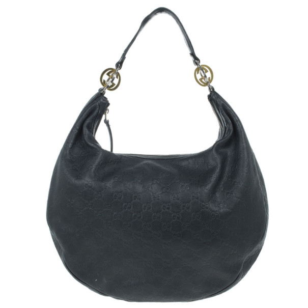 Gucci Guccissima Leather 'GG Twins' Medium Hobo