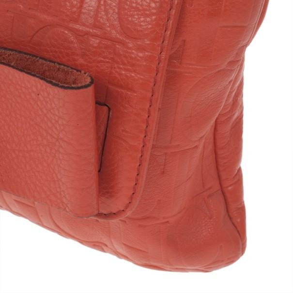 Carolina Herrera Orange Audrey Shoulder bag