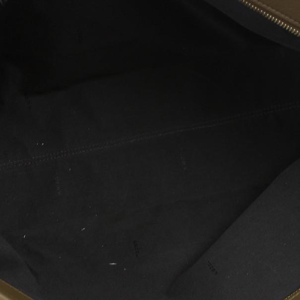 Fendi Brown Canvas Pequin Roll Tote