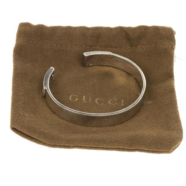 Gucci Silver Bangle Bracelet 18CM