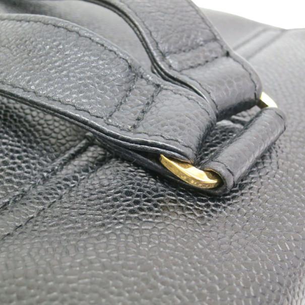 Chanel Black CC Caviar Backpack