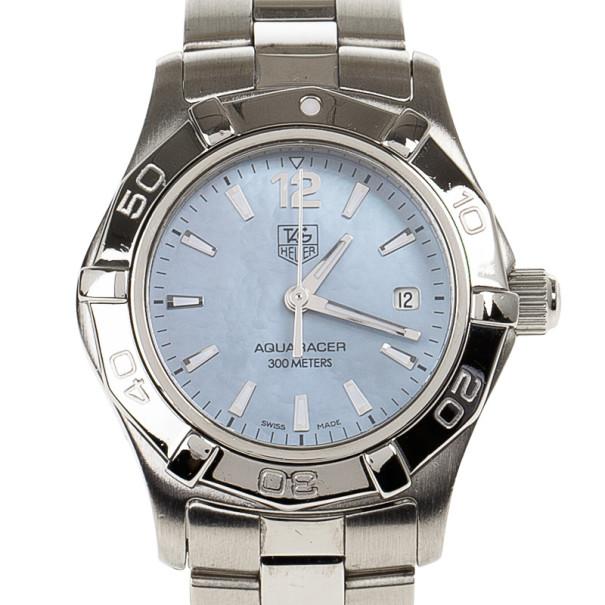 Tag Heuer Blue Stainless Steel Aquaracer Women's Wristwatch 28MM