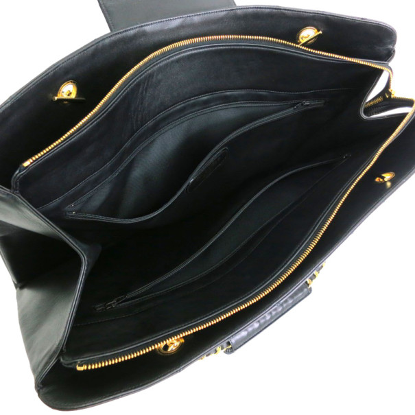 Chanel Black Calfskin Supermodel Shoulder Bag