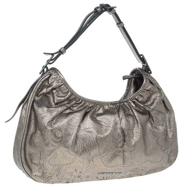 Burberry Bronze Leather Degrade Lace Large Avondale Hobo