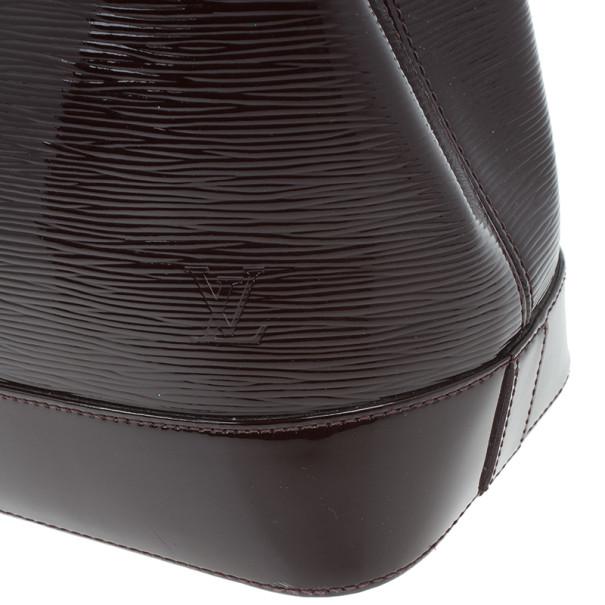 Louis Vuitton Quetshe Patent Epi Leather Mirabeau Tote