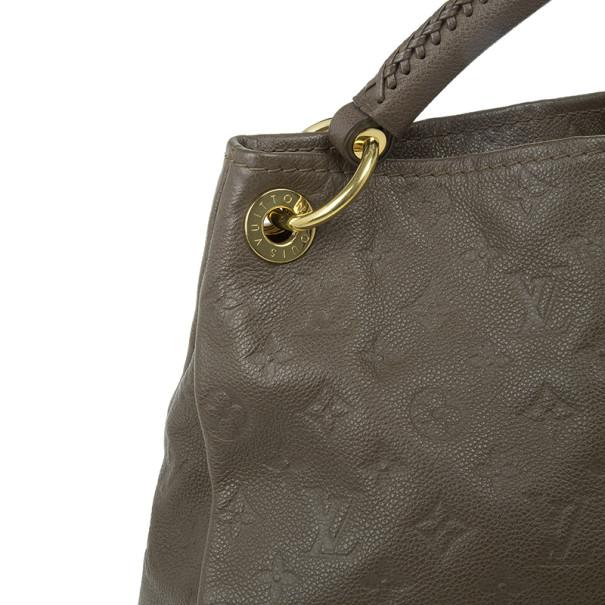 Louis Vuitton Brown Monogram Leather Empreinte Artsy MM