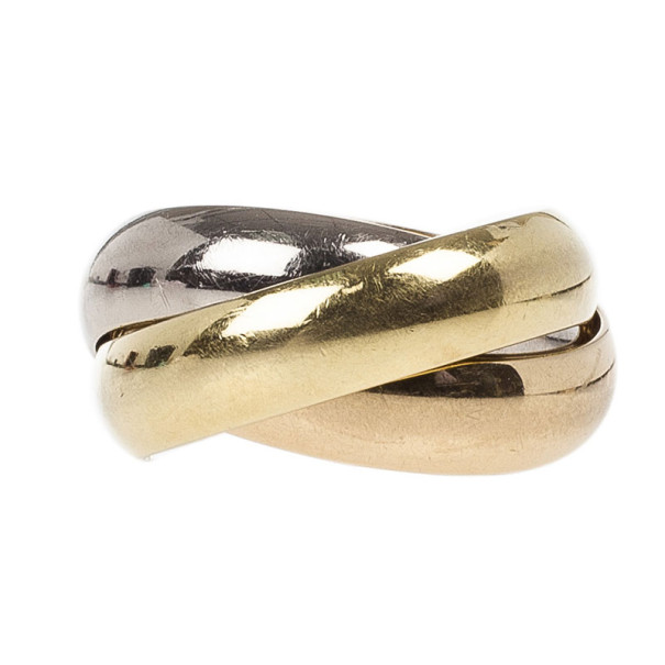Cartier 18K Gold 3-Tone Trinity Women's Ring Size 54
