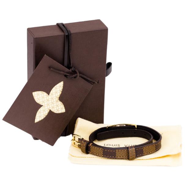 Louis Vuitton Sign It Damier Ebene Leather Bracelet