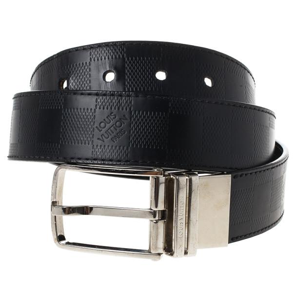Louis Vuitton Damier Graphite Leather Boston Belt 90CM