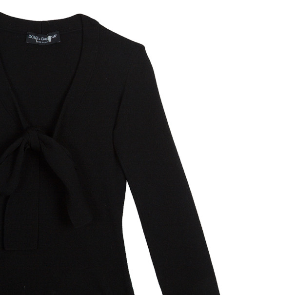 Dolce and Gabbana Tie Wool Top S