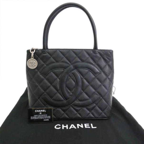 Chanel Black Caviar Small Revival Tote