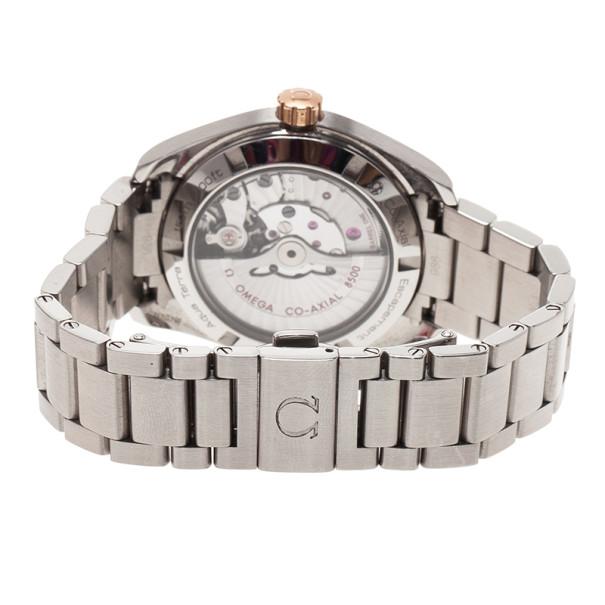 Omega Black Stainless Steel Seamaster Aqua Terra Women's Wristwatch 38MM