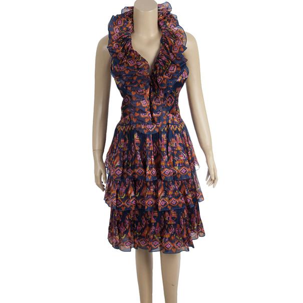 Dior Silk Tiered Evening Dress S