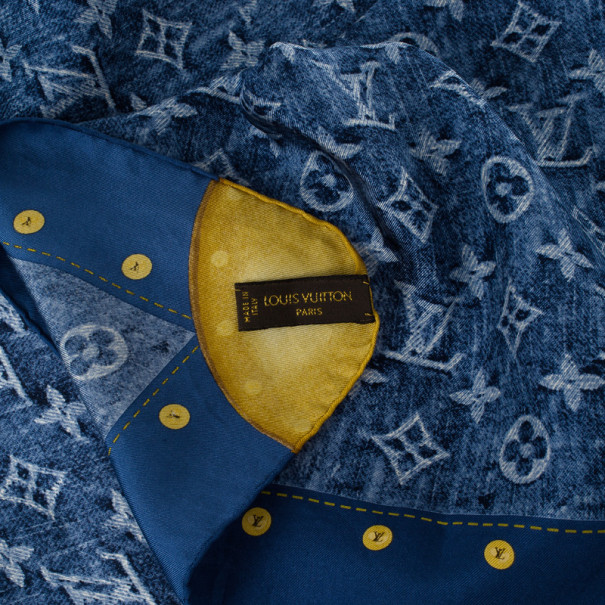 Louis Vuitton Blue Monogram Denim Square Scarf