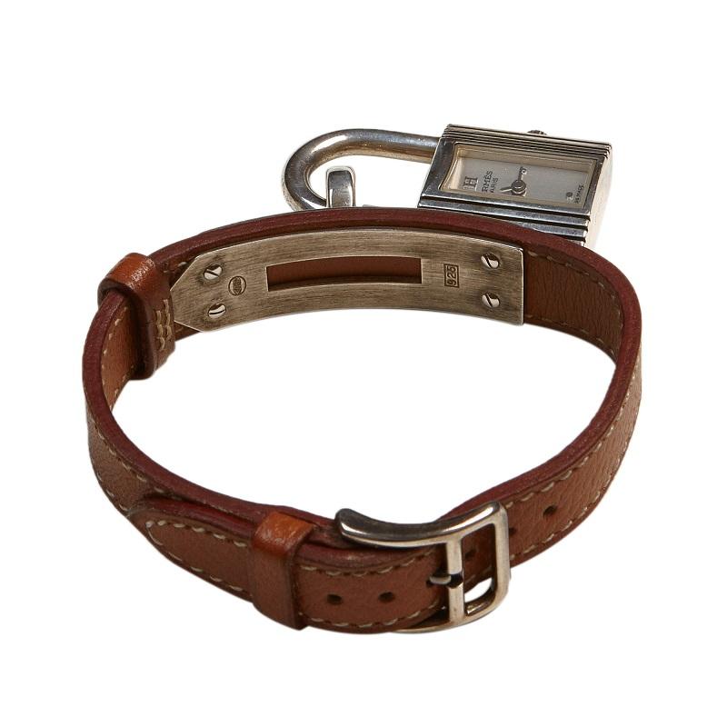 Hermes White Stainless Steel Kelly Women's Wristwatch 20MM