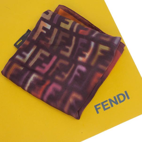 Fendi Multicolor Zucca Square Scarf