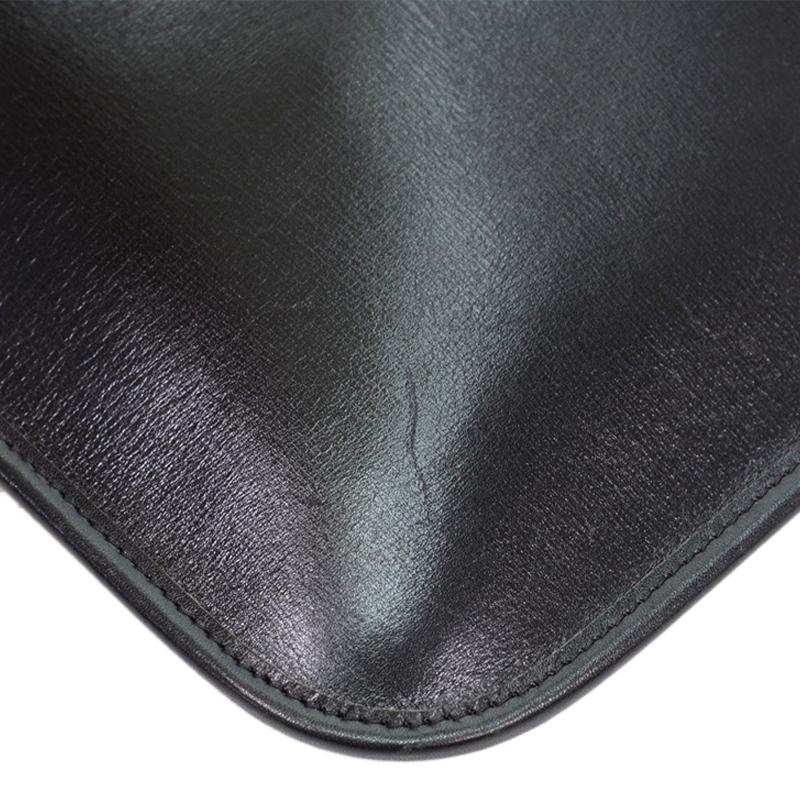Chanel Black Leather Flat Shoulder Tote