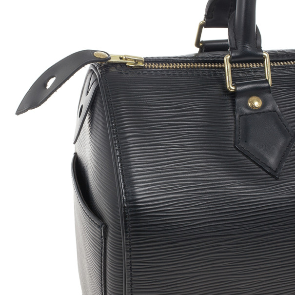 Louis Vuitton Black Epi Speedy 25 Bag