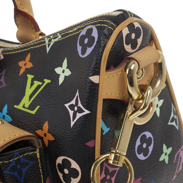Louis Vuitton Black Multicolore Canvas Rita