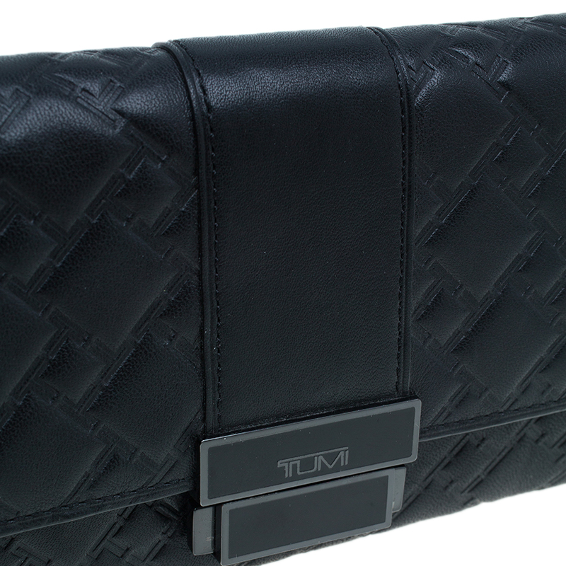 TUMI Black Leather Wallet ID Protection