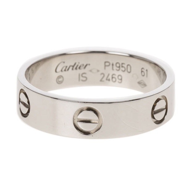 Cartier Love Platinum Ring Size 61