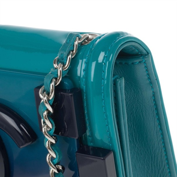 Chanel Turquoise Boy Brick Flap Bag
