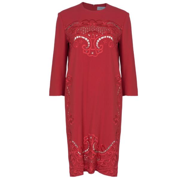 Preen By Thornton Bregazzi Ember Red Cutout Shift Dress M