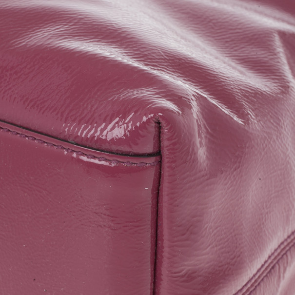 Gucci Pink Patent Leather Soho Tote