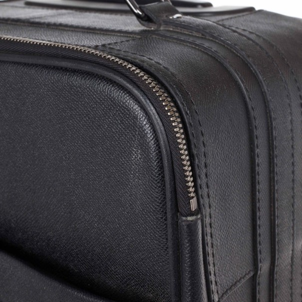 Burberry Black London Leather Two-Wheel Suitcase
