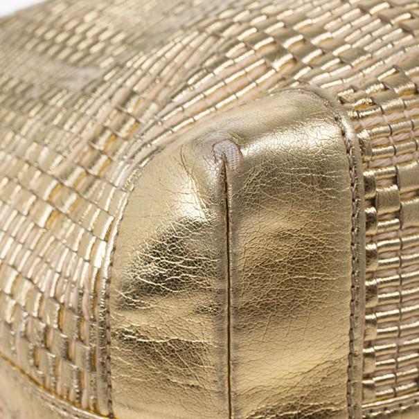 Fendi Gold Matrioska Woven Tote