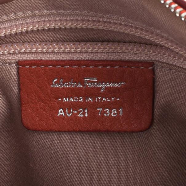 Salvatore Ferragamo Red Leather Small Shoulder Bag