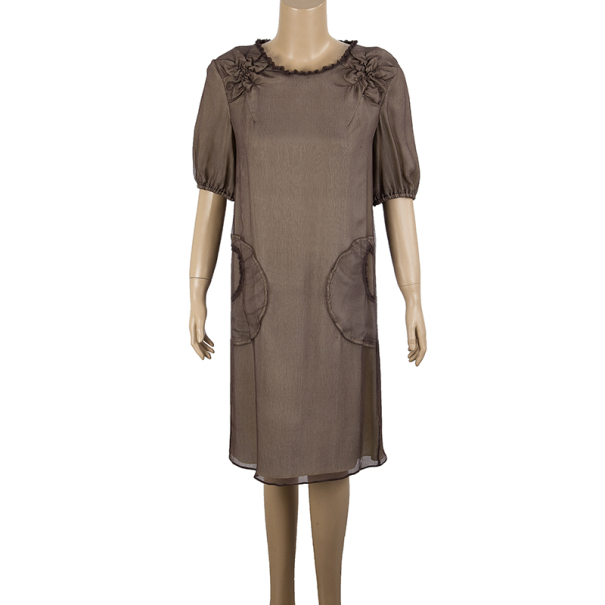Fendi Double Layer Chiffon Dress S
