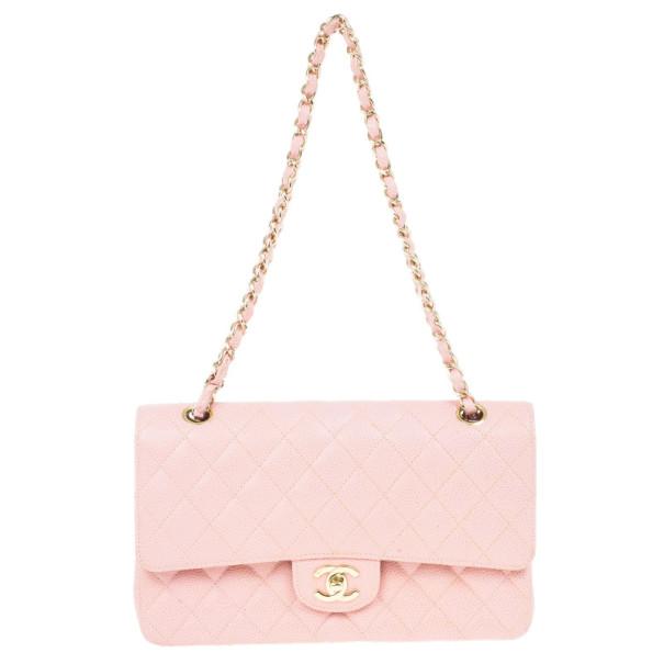 Chanel Pink Caviar Medium Double Flap Bag