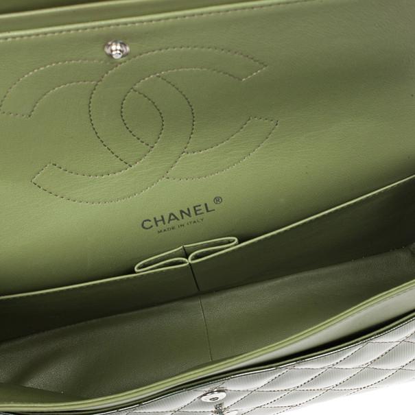 Chanel Green Patent Jumbo Double Flap Bag