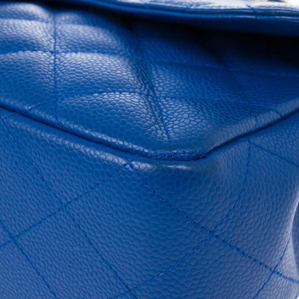 Chanel Blue Caviar Jumbo Flap Bag