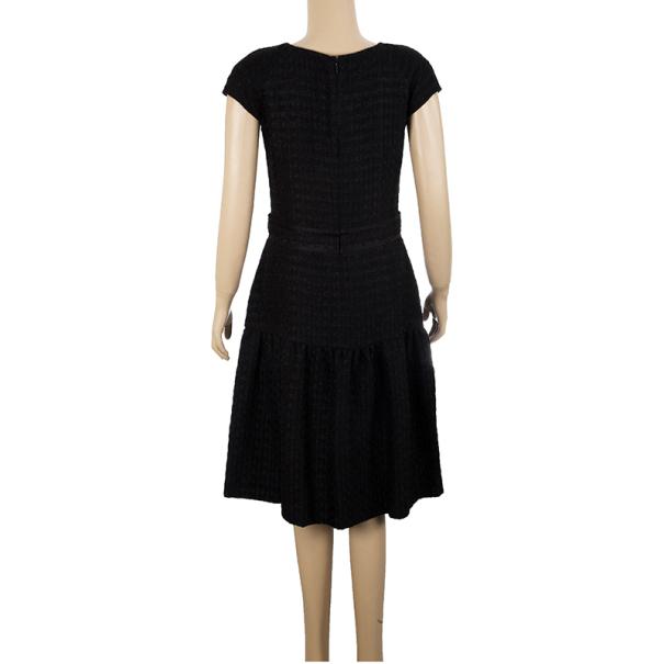 CH Carolina Herrera Textured Cotton Dress M