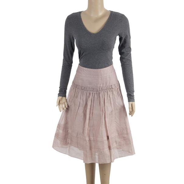 Burberry Cotton Silk Skirt S