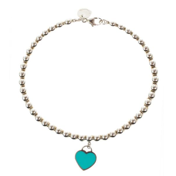 Tiffany & Co. Return To Tiffany Silver Beat Bracelet 17CM