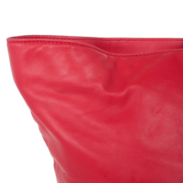 Dolce and Gabbana Red Leather Miss Everyday Tote